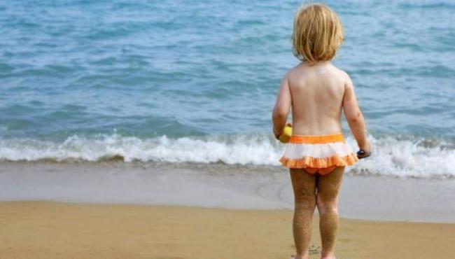 wakacje, dziecko, morze