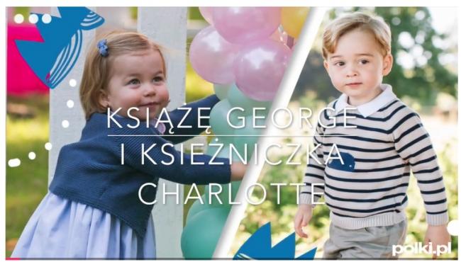 książe Georgei księżniczka Charlotte