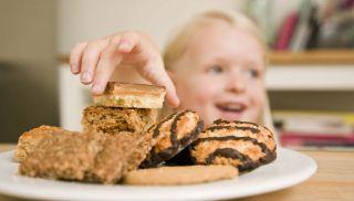 ciastka, dziecko, kuchnia, słodycze