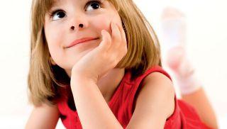dziecko, rysować, myśleć, dziewczynka, przedszkolak