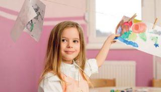 maluch, przedszkolak, przedszkole, dziecko, szkoła, dziewczynka, malowanie