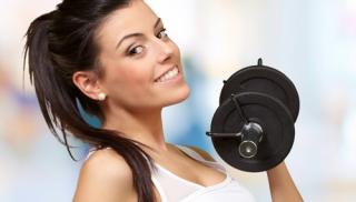 kobieta, fitness, ćwiczenia, sport