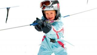 narty, dziecko, sport, zima, stok
