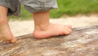 kroki, stopy, dziecko, nogi, nóżki