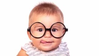 okulary, dziecko, niemowlę